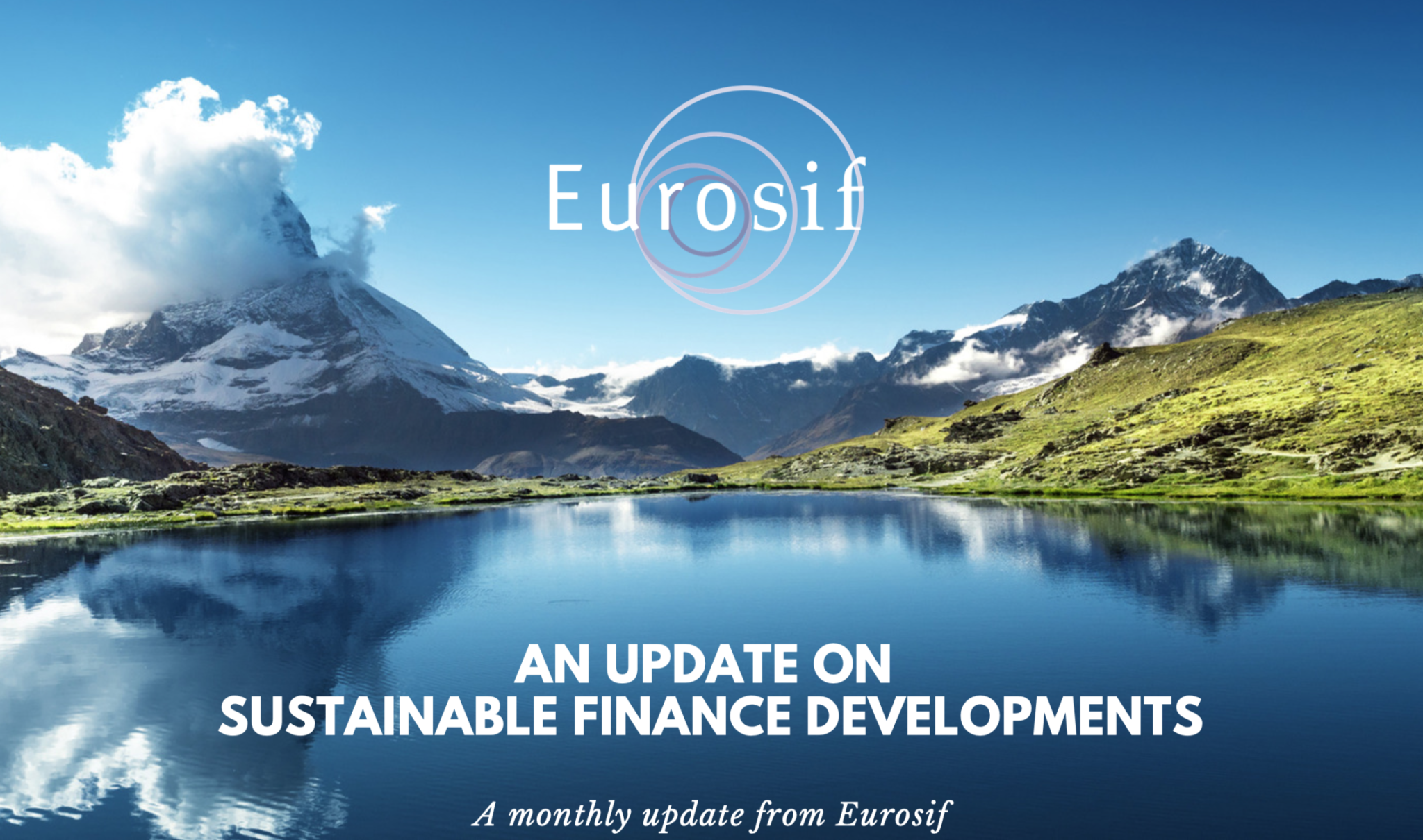 Eurosif: July update on Sustainable Finance Developments - Preview Image